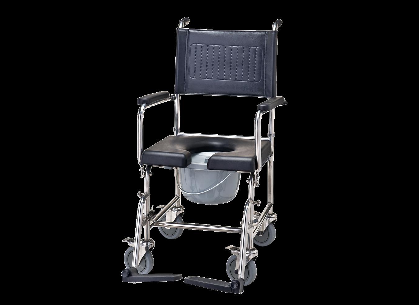 כסא רחצה ושירותים נירוסטה עם פתח U
