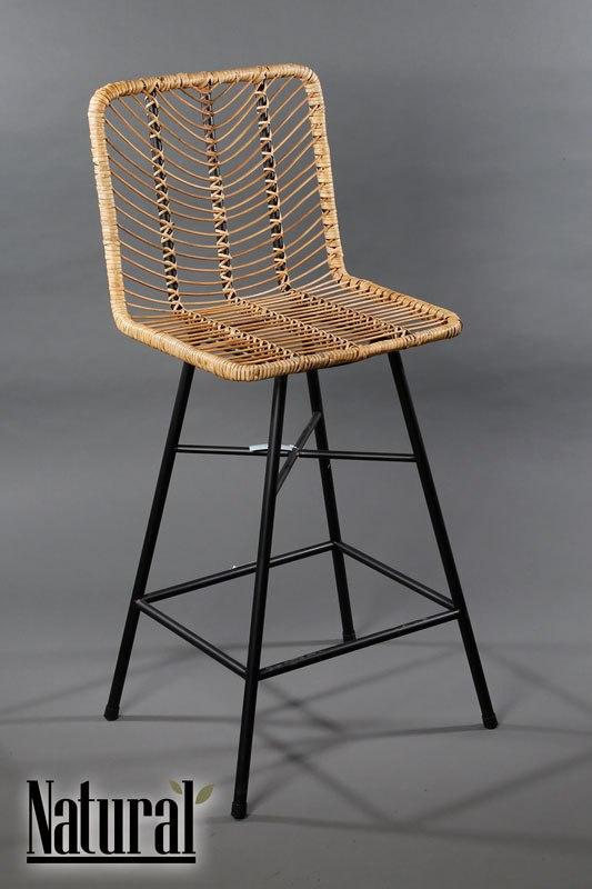 כסא בר ראטן מגיע בצבע: טבעי מידות: 38X38X98
