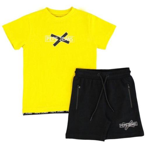 חליפת בנים שחור/צהוב PEPE JEANS - מידות 2-16