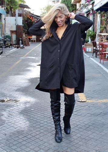 שמלת ברוקלין שחור פסים