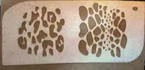 טקסטורת נחש ו נמר [t056] - שבלונות איכותיות tra-fa-ret stencils
