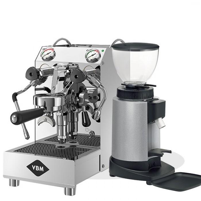 מכונת קפה מקצועית וי בי אם דומובר ג'וניור VBM DOMOBAR JUNIOR + מטחנת ceado E5P