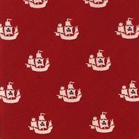 עניבה דגם אוניות אדום