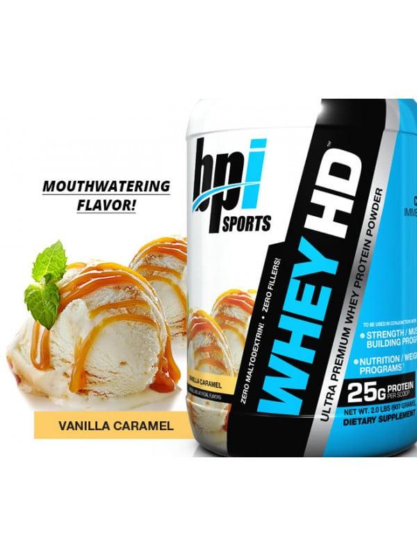 """אבקת חלבון BPI WHEY HD BPI משקל 1.850 ק""""ג"""