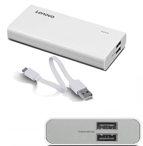 מטען נייד Lenovo Power Bank PA13000 mAh GXV0R48710 בצבע כסוף