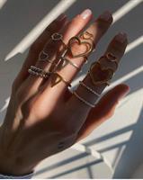 טבעת לב זהב
