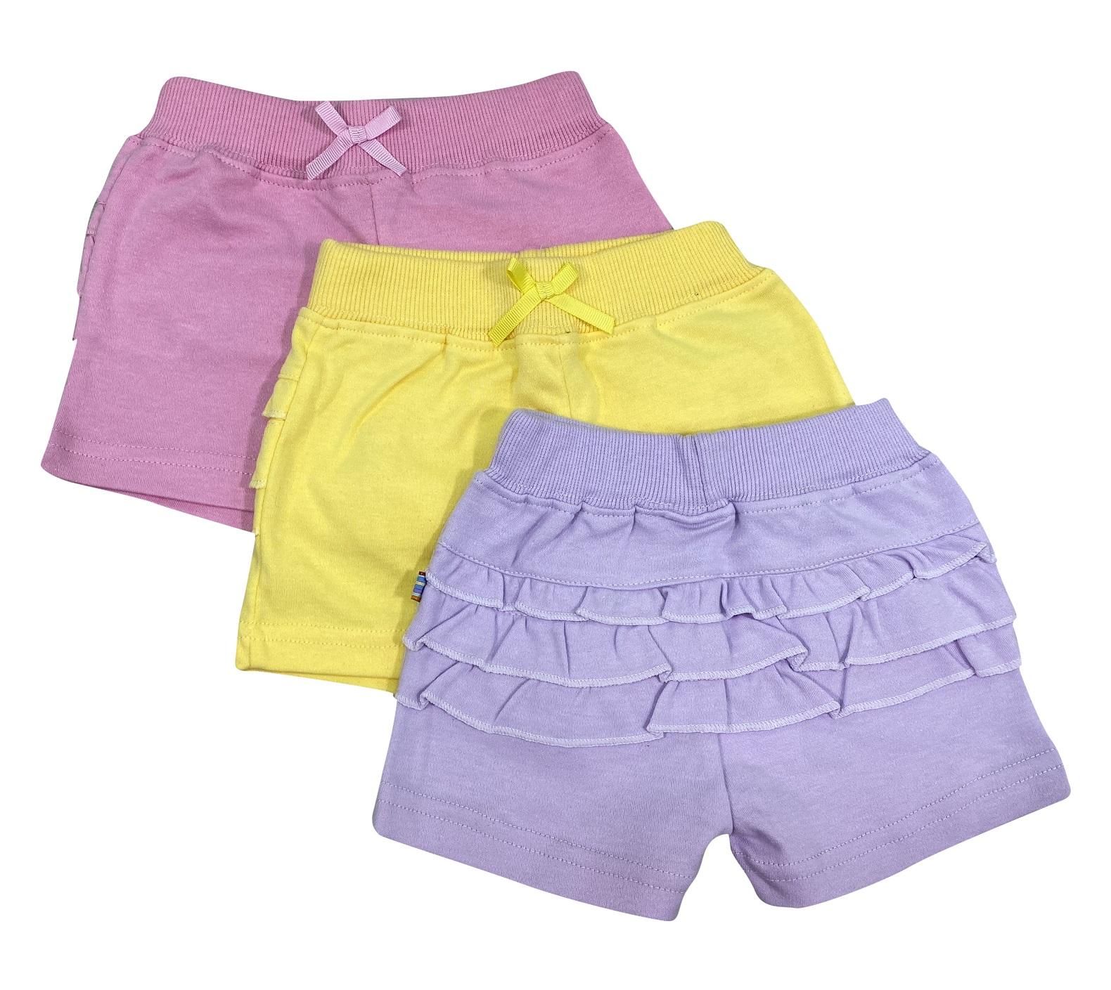 שלישיית מכנסיים 4435 סגול לילך-צהוב-ורוד