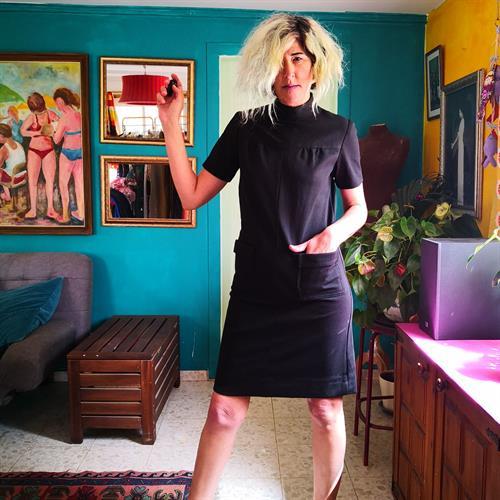 שמלת גולף שחורה מידה M/L