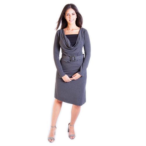 שמלת הנקה רבידה שרוול ארוך