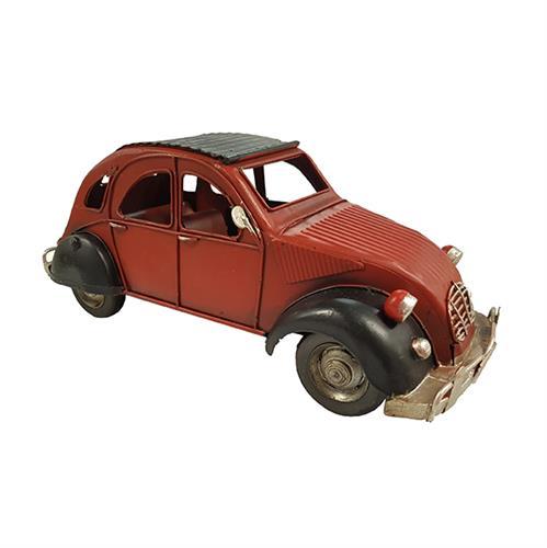 מכונית דה שבו רטרו אדומה