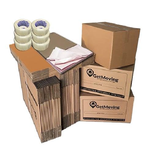 חבילת חומרי אריזה 4 חדרים