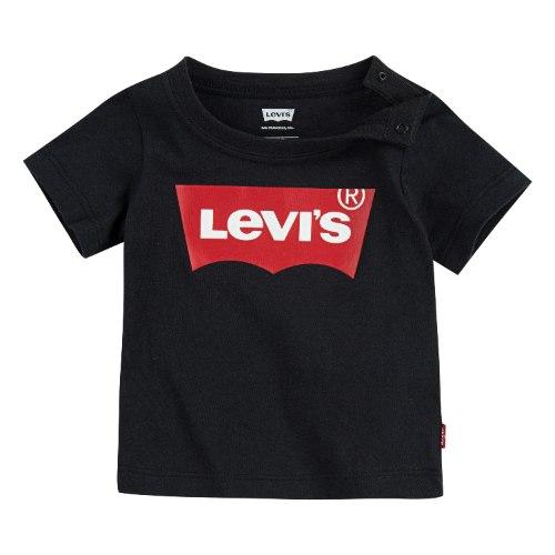 עותק של טי שירט שחורה לוגו LEVIS אדום - 3 עד 24 חודשים