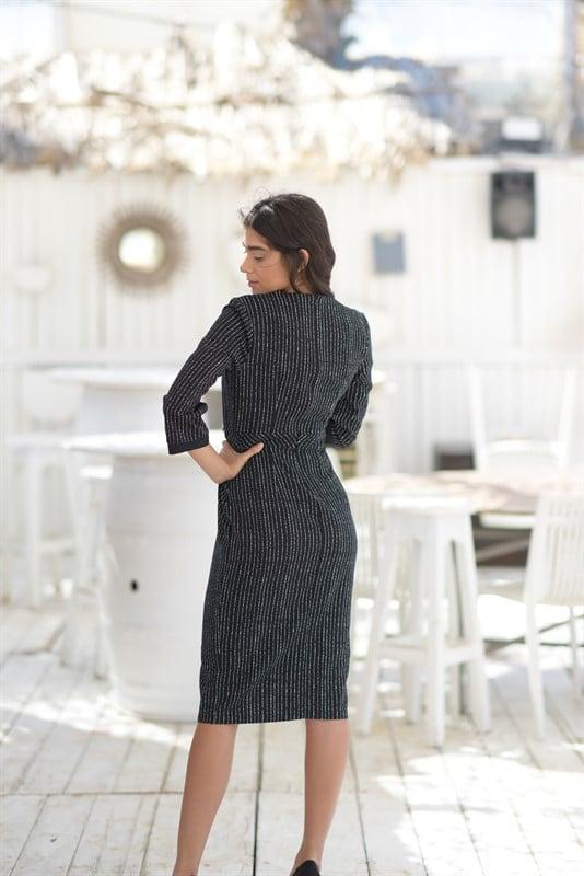 שמלת שוס שחור לבן