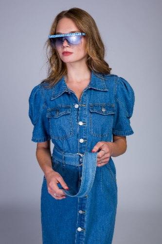 שמלה ג'ינס שרוול מיוחד