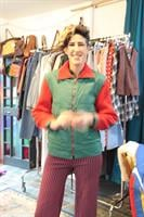 מעיל סקי סבנטיז ירוק אדום מידה L