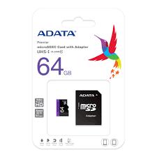 כרטיס זיכרון ADATA Class 10 64GB Micro SD 64GB Micro SD סנדיסק