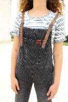 אוברול ג'ינס שחור
