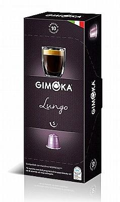 10 קפסולות גימוקה תואם (נספרסו gimoka Lungo (Nespresso