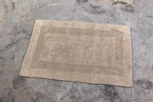 שטיח כותנה בינוני - צבע אבן