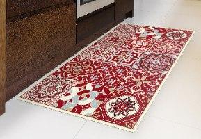 שטיח פי.וי.סי אקלקטי אדום עמוק TIVA DESIGN קיים בגדלים שונים