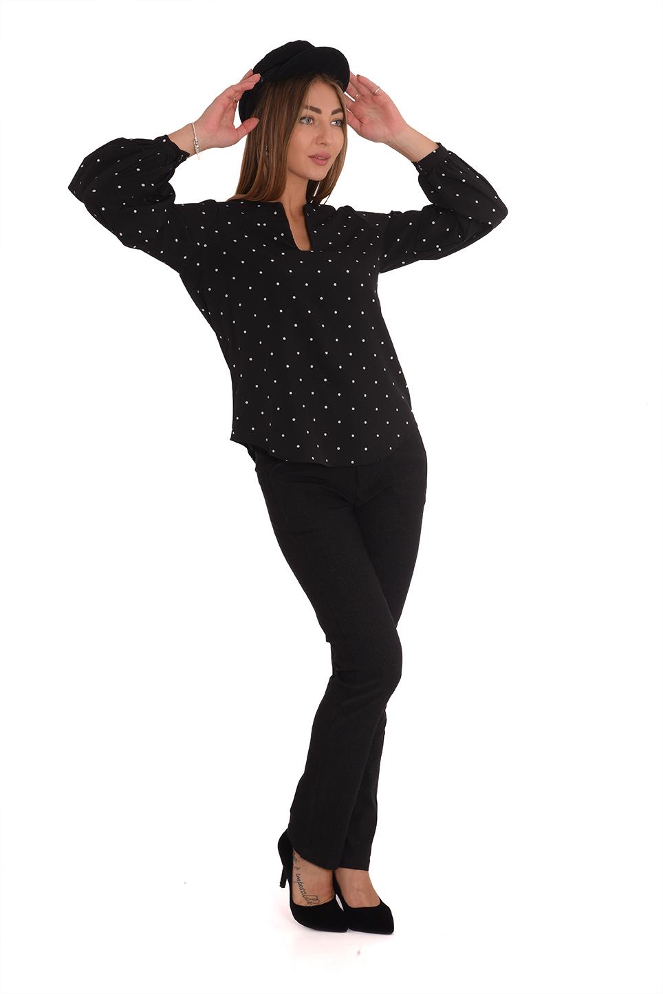 מכנס מרינה שחור לורקס