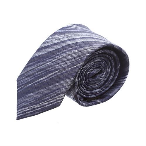 עניבה פסים מערבולת אפור משולב