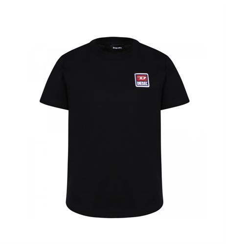 טי שירט DIESEL שחורה - לוגו אדום