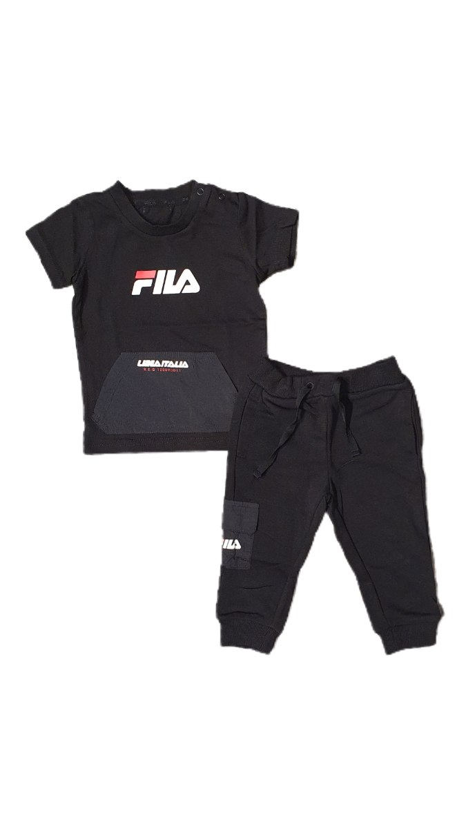 חליפת תינוקות שחורה מכנס ארוך FILA