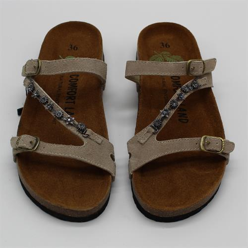 נעלי נוחות רצועת שרשרת בז