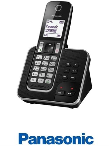 Panasonic טלפון אלחוטי + משיבון דגם KX-TGD320MBB