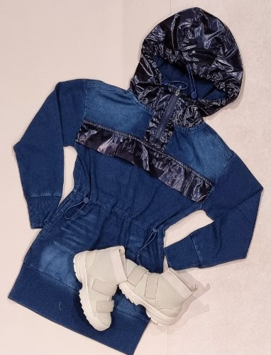 שמלת ג'ינס קפוצון FILA (6-16)