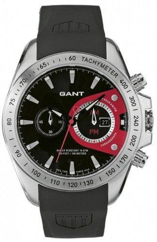 שעון יד אנלוגי גברים רצועת סיליקון שחורה GANT W10381