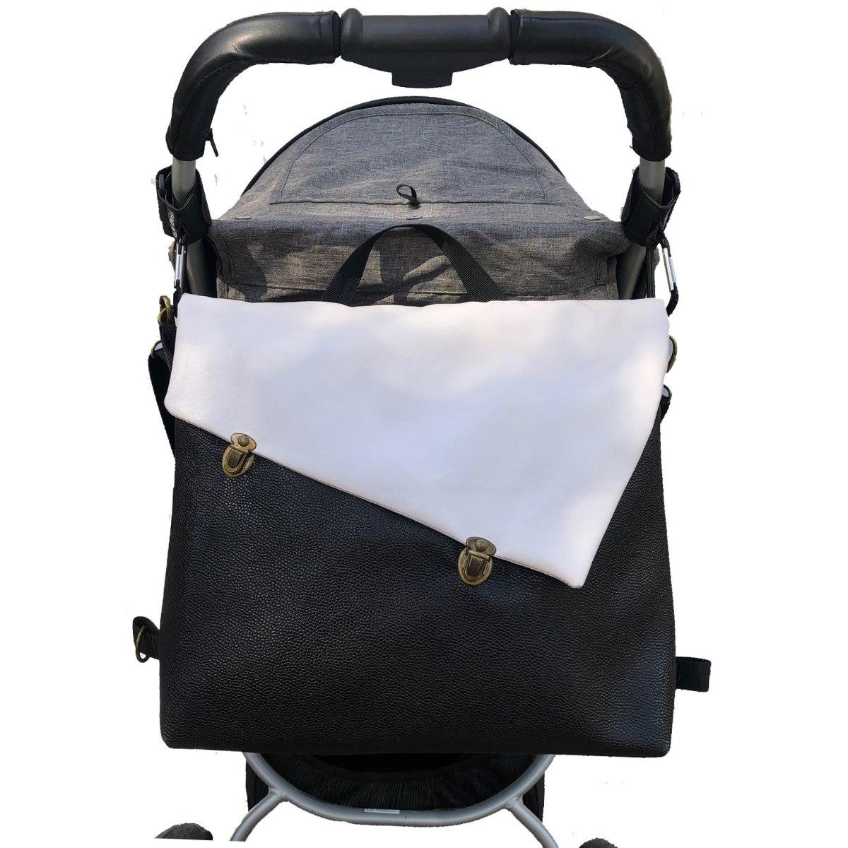 תיק עגלה, לאם ולילד, תיק החתלה בצבע שחור לבן