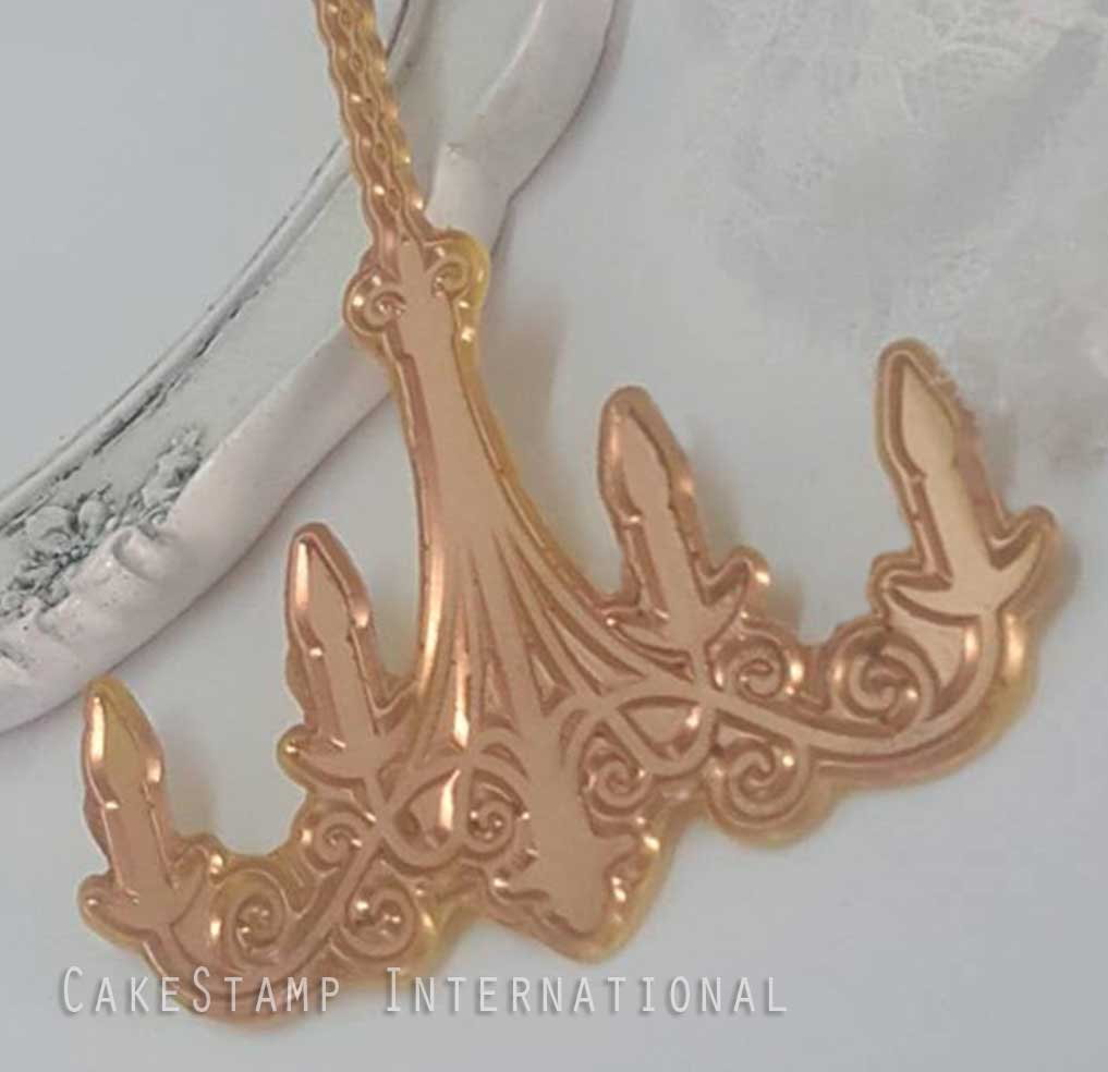 Chandelier cookie stamp-new stamp model 2