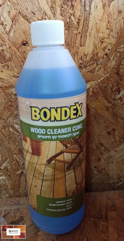 חומר ניקוי לדק עץ חיצוני  BONDEX WOOD CLEANER
