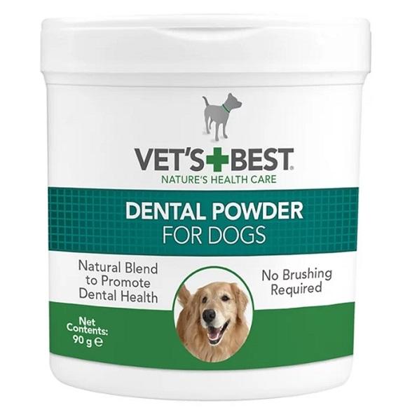 אבקה דנטלית לניקוי והלבנת שיניים לכלבים 90 גרם