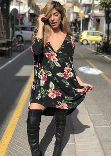 שמלת קיילי פרחוני צבעוני