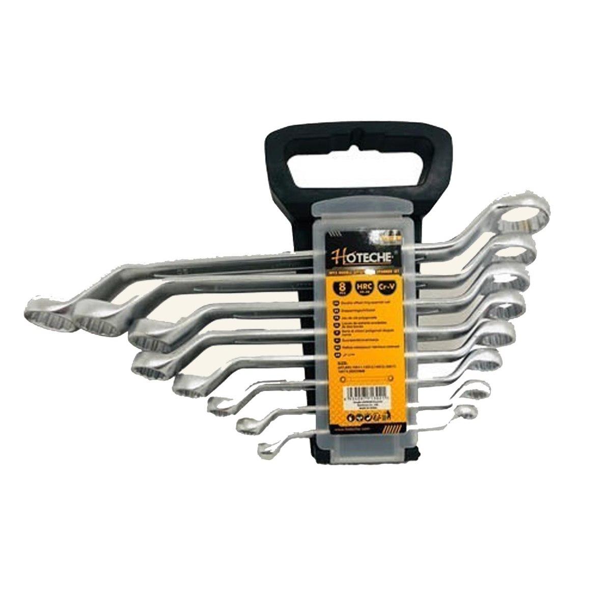 סט 8 מפתחות רינג רינג מכופף מבית חברת HOTECHE