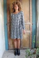 שמלת סריג משבצות