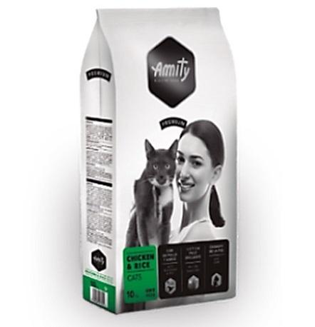 "Amity מזון חתולים עוף ואורז 10 ק""ג"