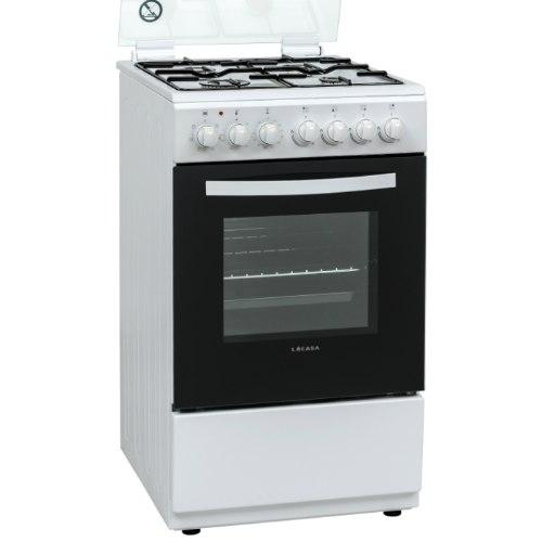 תנור אפיה צר לקאזה משולב כיריים גז LACASA LCV50W צבע לבן