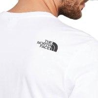 חולצה לבנה של נורט פייס