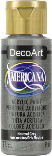 """צבע אמריקנה 59 מ""""ל Neutral Grey DAO95"""