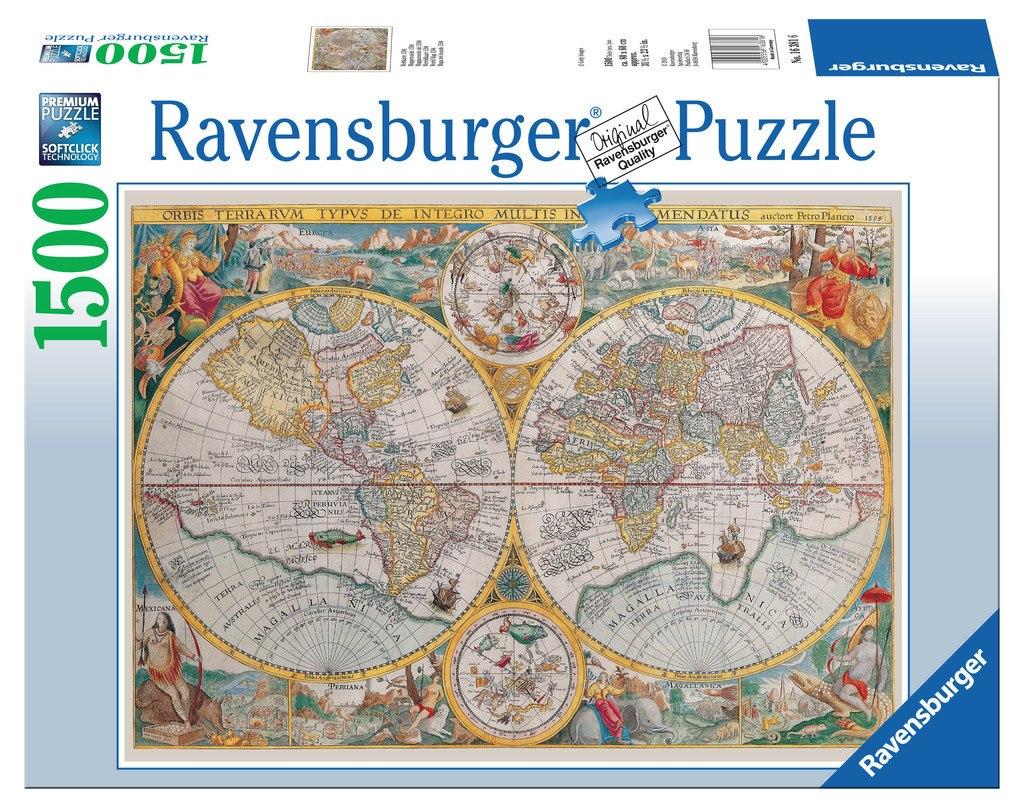 מפת העולם פאזל 1500 חלקים