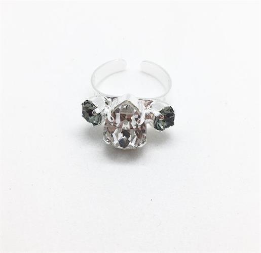 טבעת קלייר כסף