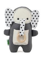 חבילת מתנה לתינוק: שמיכת תינוק ובובת התפתחות סער הפיל