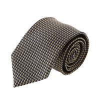 עניבה קלאסית ריבועים צהוב שחור
