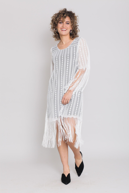 שמלת צרלסטון לבנה