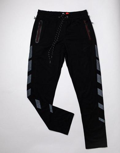 מכנס פרנצ'טרי ארוך מודפס גבר שחור