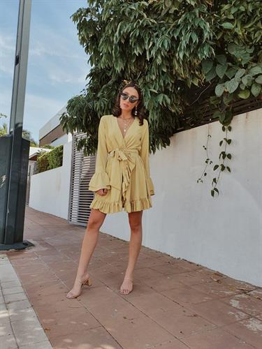 שמלת אנדראה - צהובה
